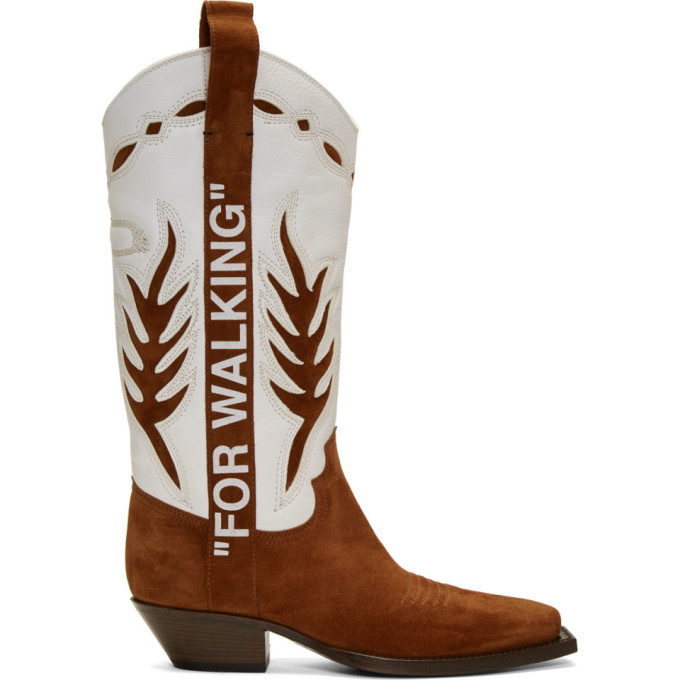 Photo: Off-White Brown and White Cowboy Boots
