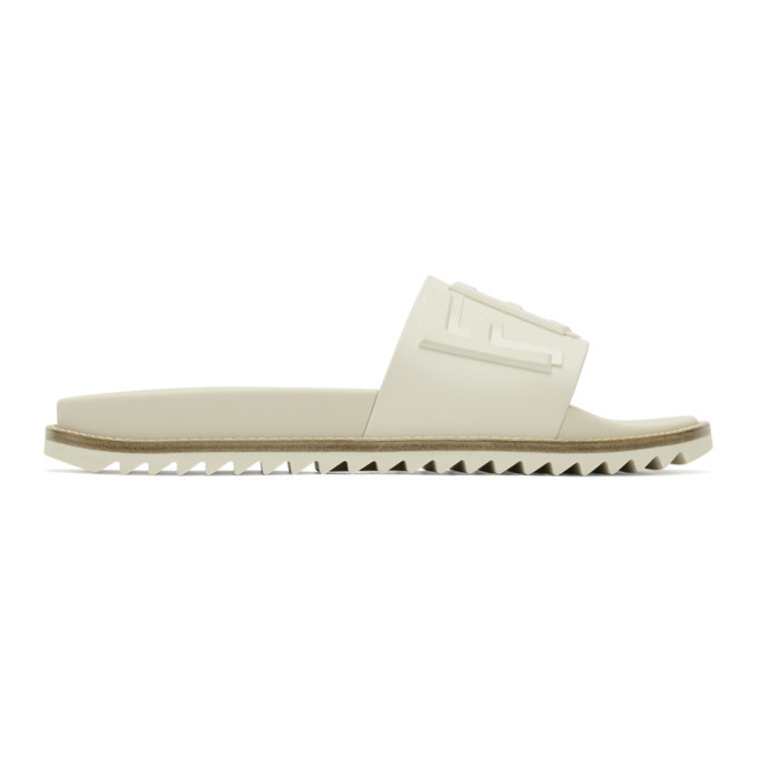 Photo: Fendi White Rubber Fendi Vocabulary Slides