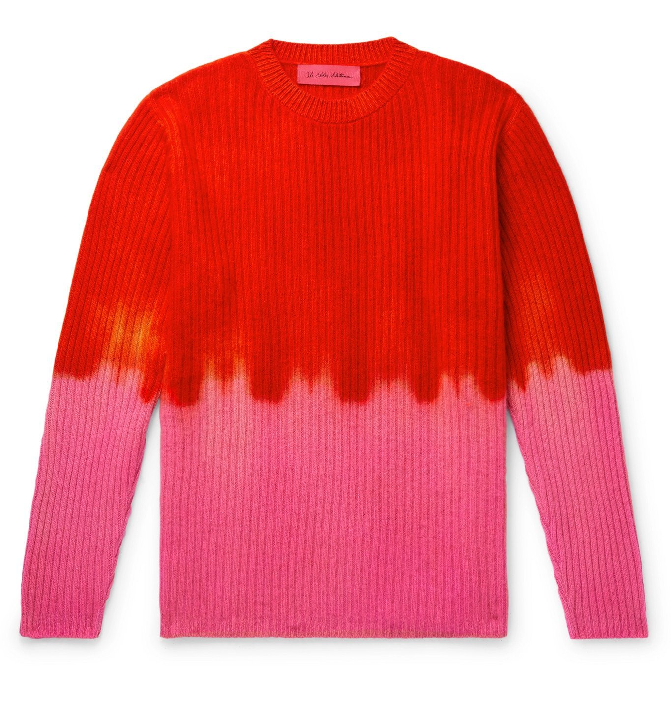 Photo: The Elder Statesman - Ribbed Tie-Dyed Cashmere Sweater - Multi