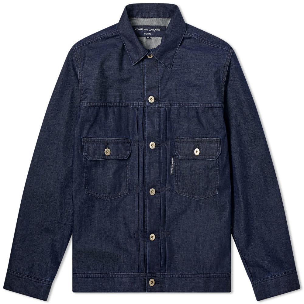 Photo: Comme des Garcons Homme Layered Denim Jacket Indigo
