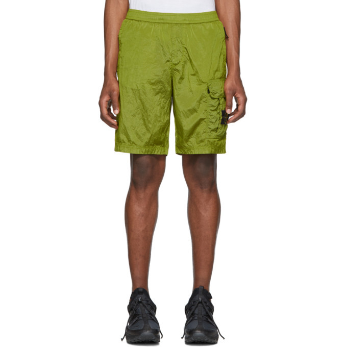 Stone Island Green Bermuda Shorts