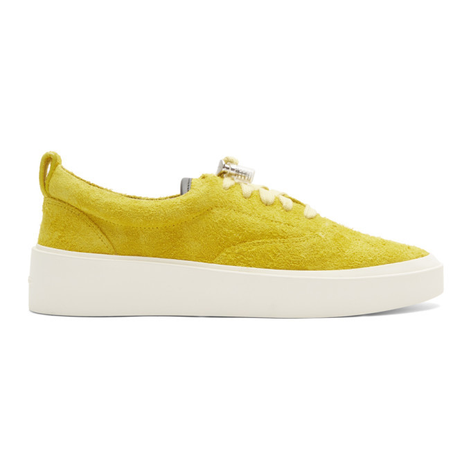 Photo: Fear of God Yellow Suede 101 Lace-Up Sneakers