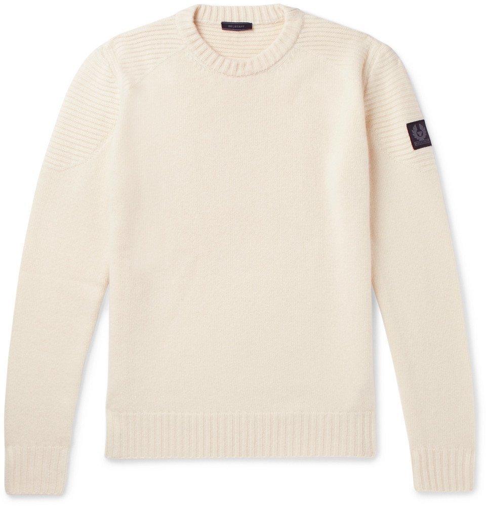 Belstaff - Southview Virgin Wool and Cashmere-Blend Sweater - Men - Cream
