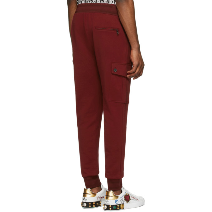 Dolce and Gabbana Red Scuro Cargo Pants