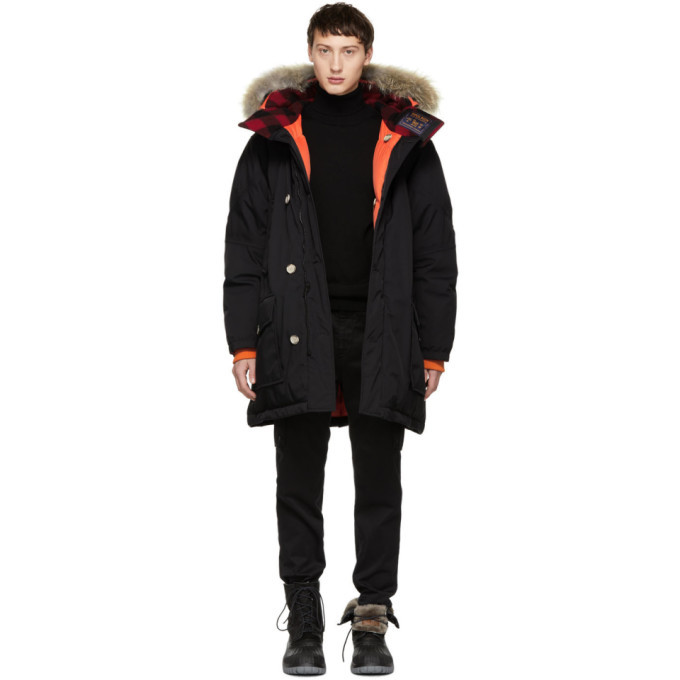 Photo: Woolrich John Rich and Bros Black Griffin Edition Down Atlantic Parka