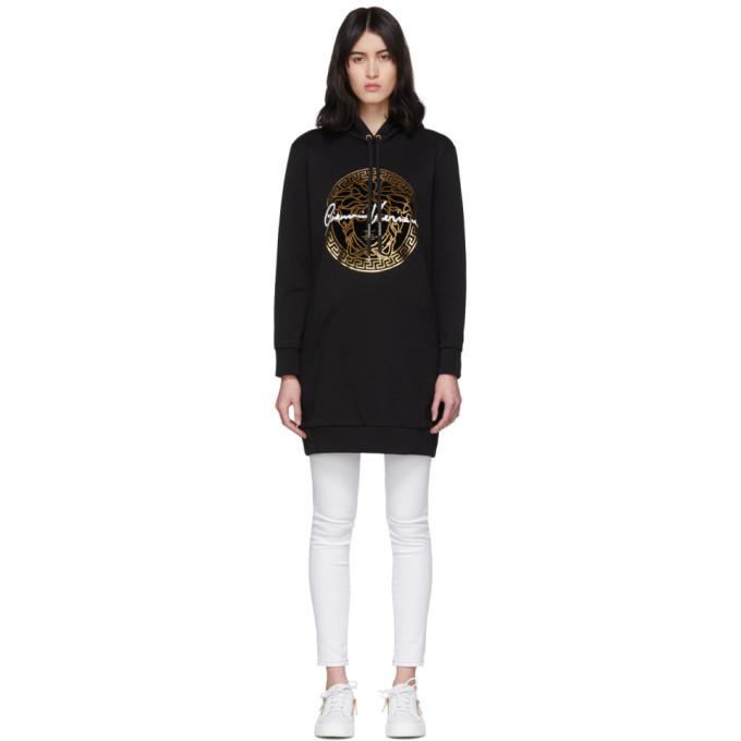 Versace Black Medusa Signature Hoodie Dress