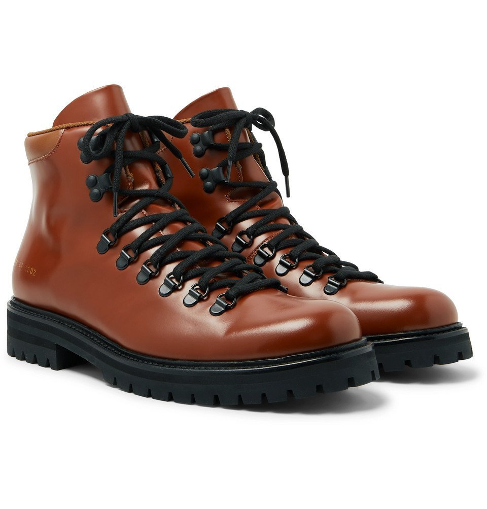 Photo: Common Projects - Polished-Leather Boots - Brown