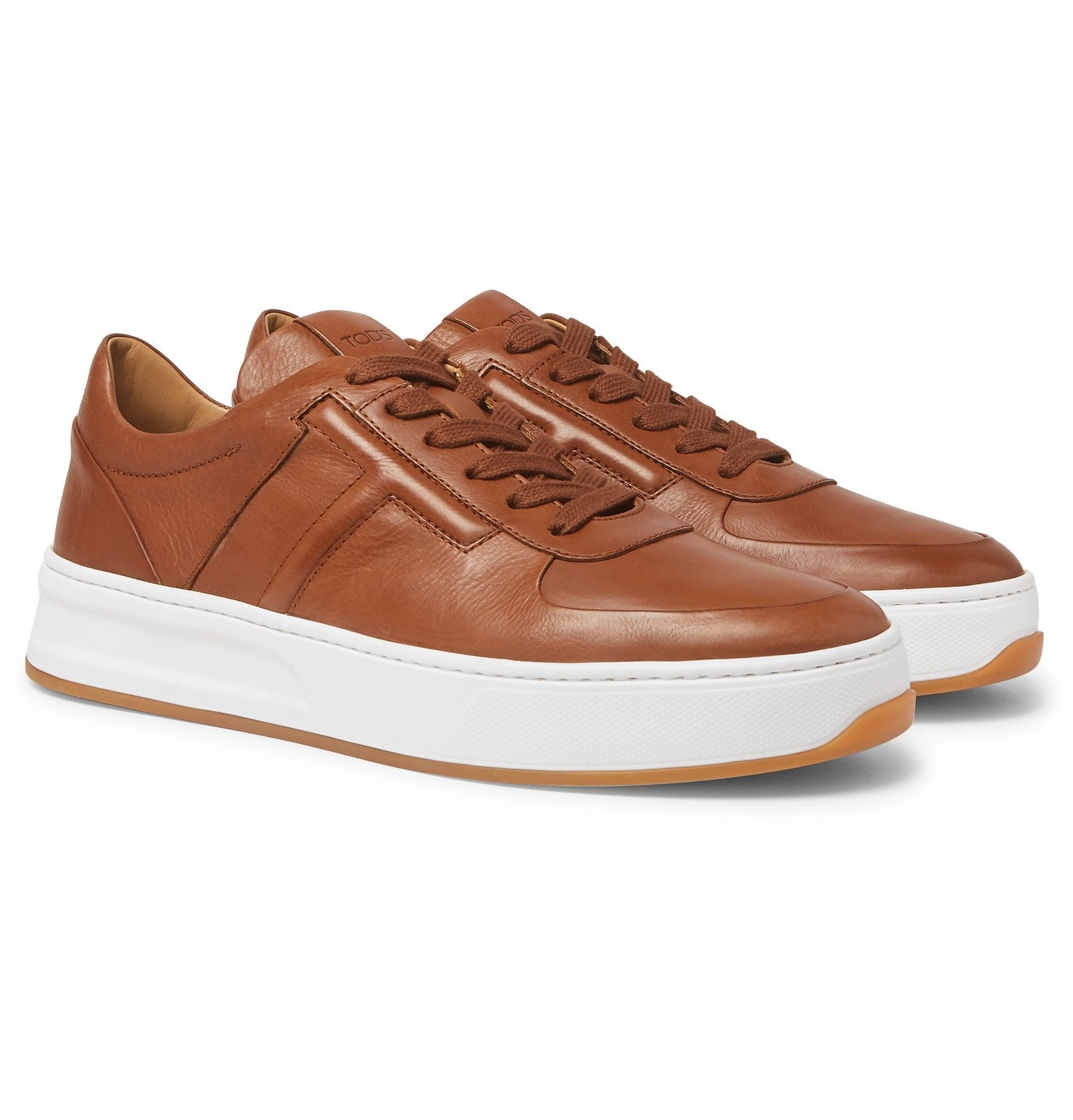 Photo: Tod's - Cassetta Leather Sneakers - Brown