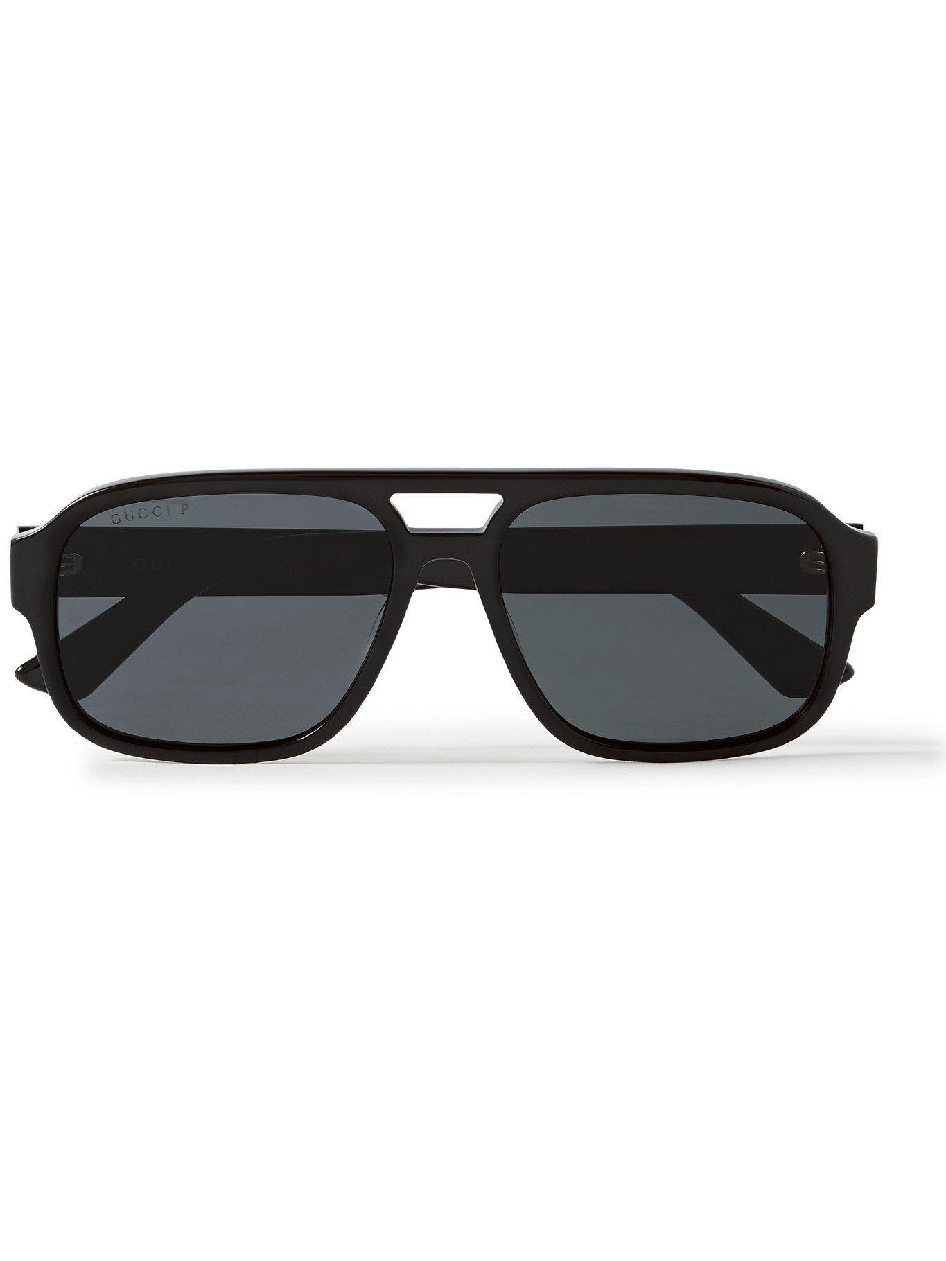 Photo: GUCCI - Aviator-Style Acetate Sunglasses - Black