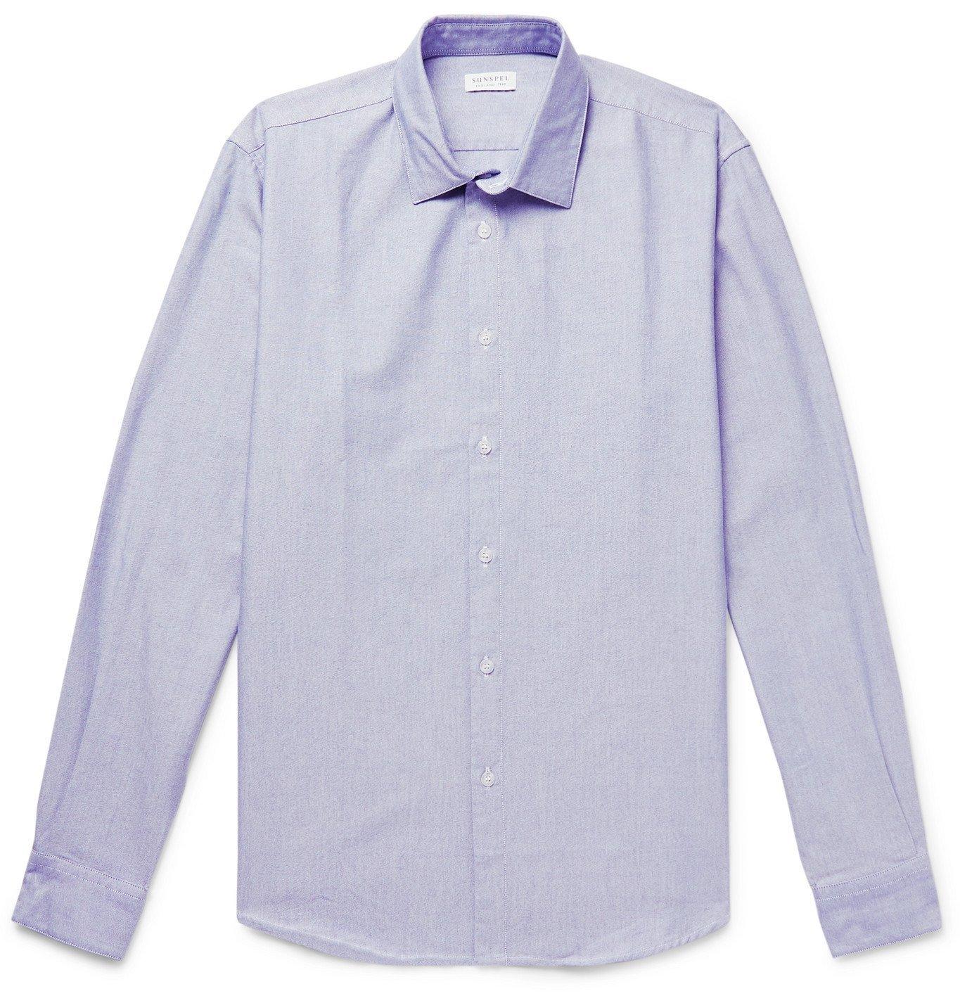 SUNSPEL - Cotton Oxford Shirt - Blue