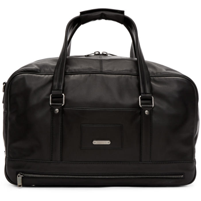 Photo: Saint Laurent Black Leather ID Duffle Bag
