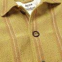 Acne Studios - Oversized Fringed Striped Woven Coat - Yellow