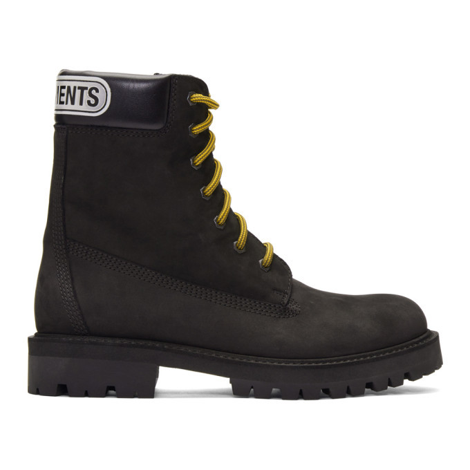 Photo: VETEMENTS Black Trucker Boots