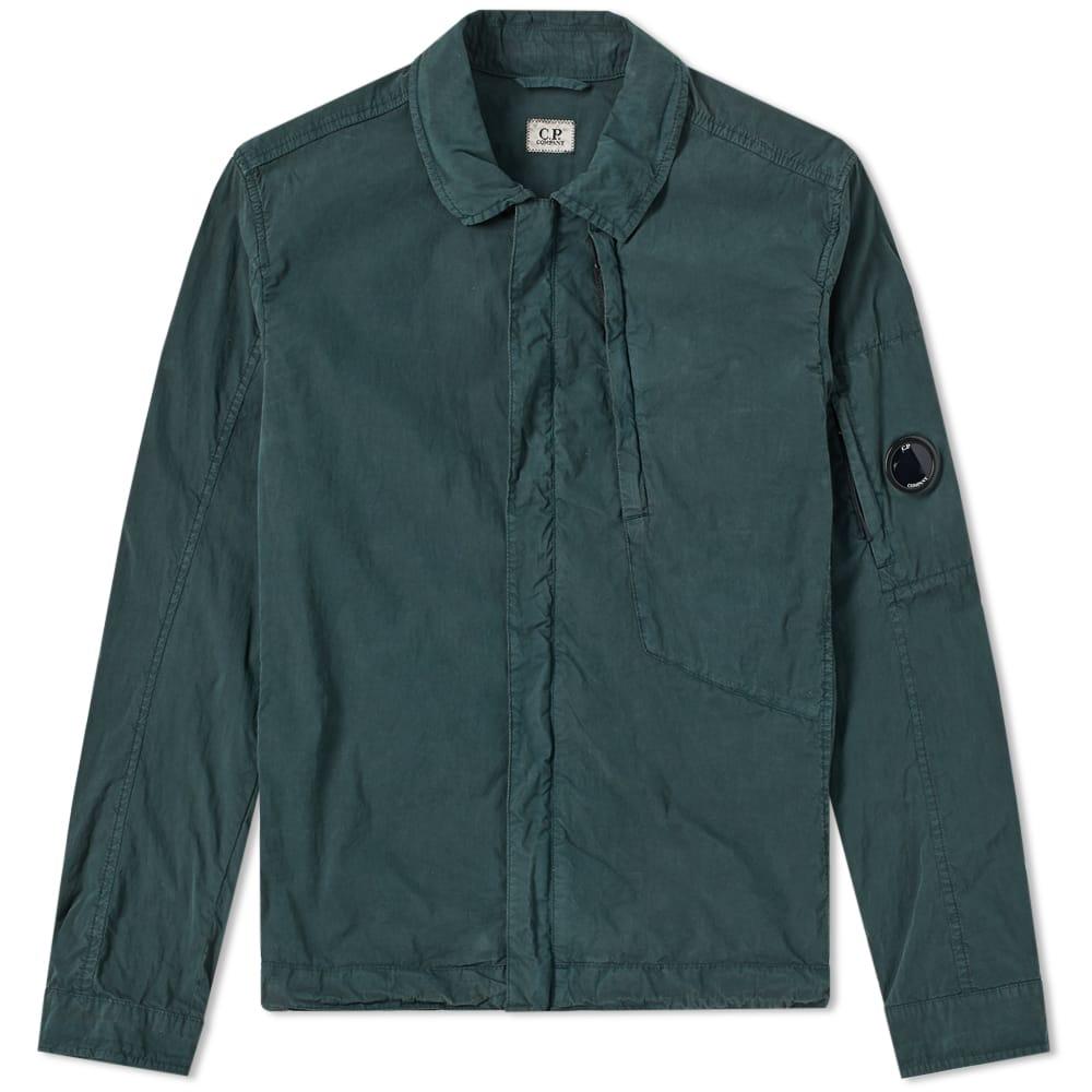 Photo: C.P. Company Goggle Zip Shirt Green