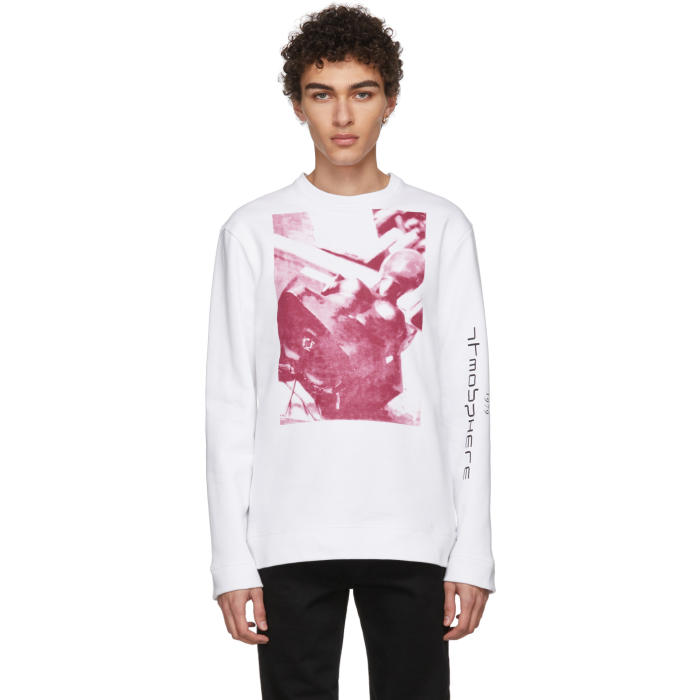 Photo: Raf Simons White Joy Division Print Sweatshirt