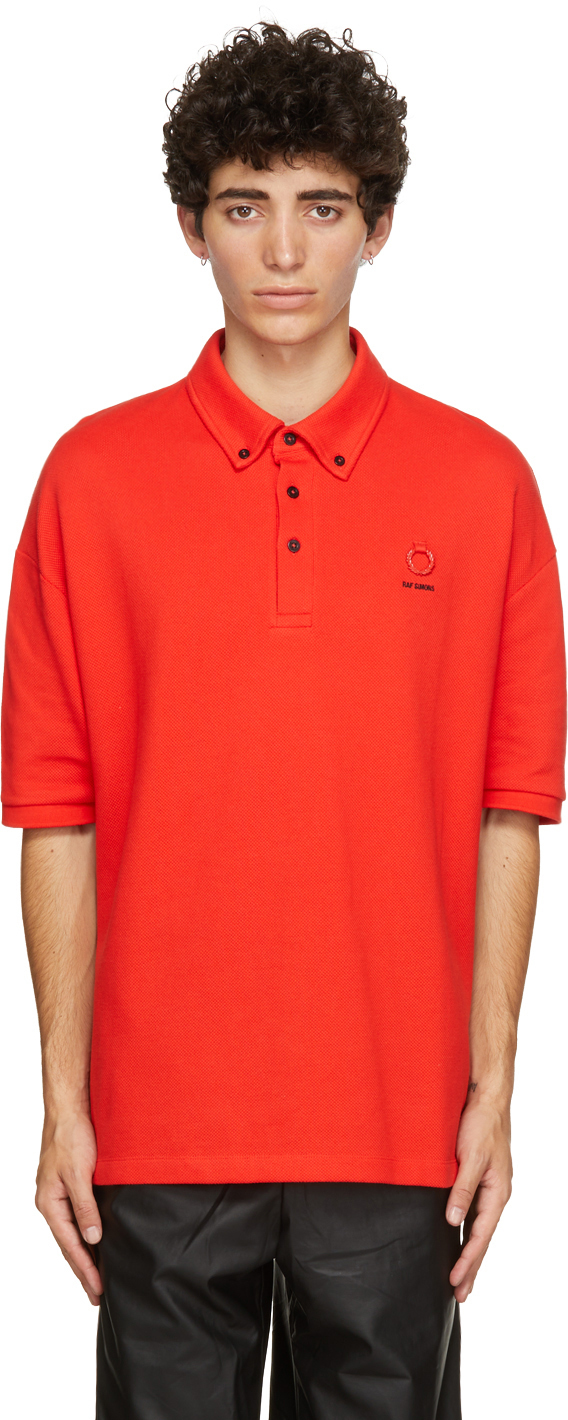 Photo: Raf Simons Red Fred Perry Edition Button Down Collar Polo