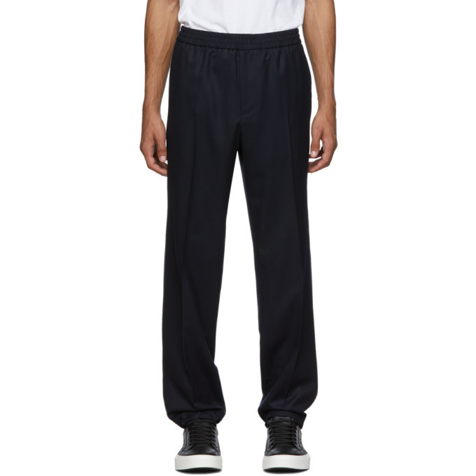 Photo: Salvatore Ferragamo Navy Tailored Trousers