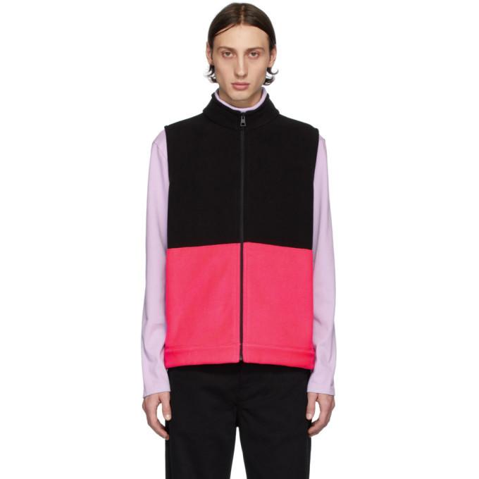 Photo: Harris Wharf London Black and Pink Polaire Vest