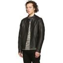 Belstaff Black Leather B Racer Jacket