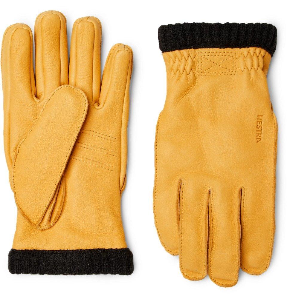Photo: Hestra - Primaloft Fleece-Lined Full-Grain Leather Gloves - Men - Yellow