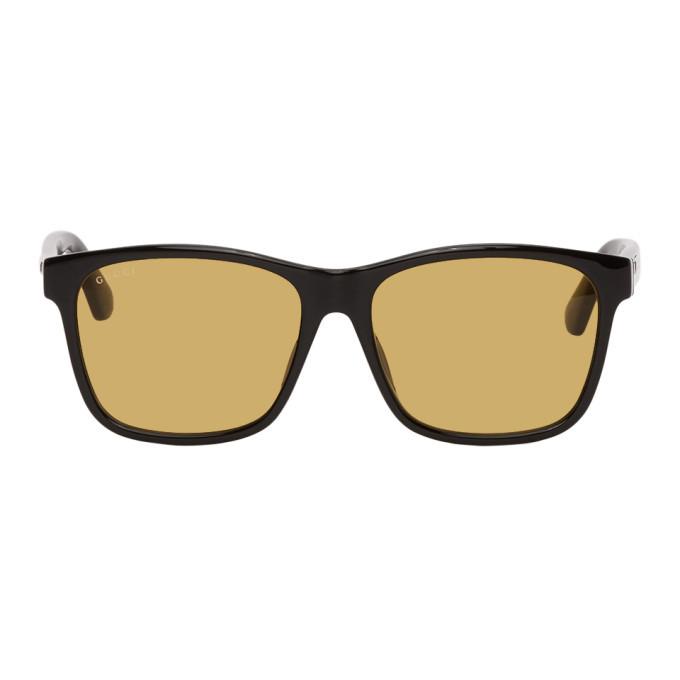 Photo: Gucci Black Square Sunglasses