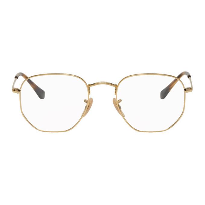 Photo: Ray-Ban Gold Hexagonal Icons Glasses