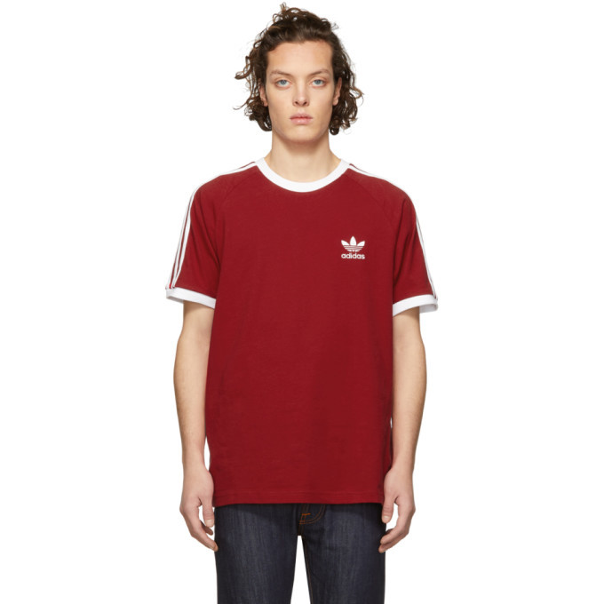 adidas Originals Red 3-Stripes T-Shirt