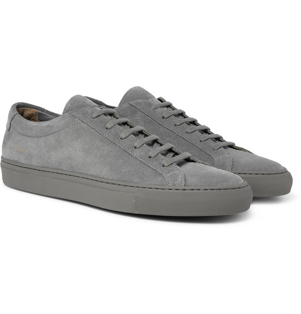 Common Projects - Original Achilles Suede Sneakers - Gray