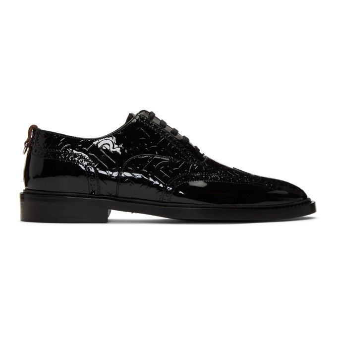 Photo: Burberry Black Patent Leather Lennard Brogues