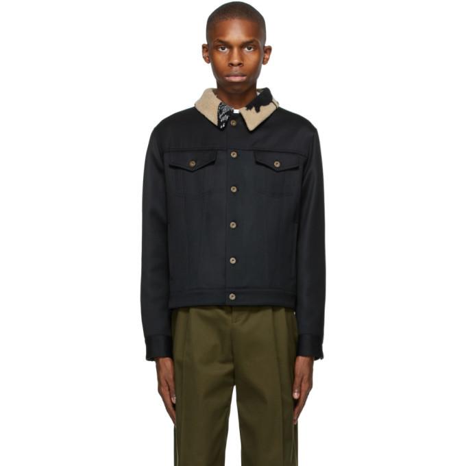 Photo: Loewe Black Wool Denim Jacket