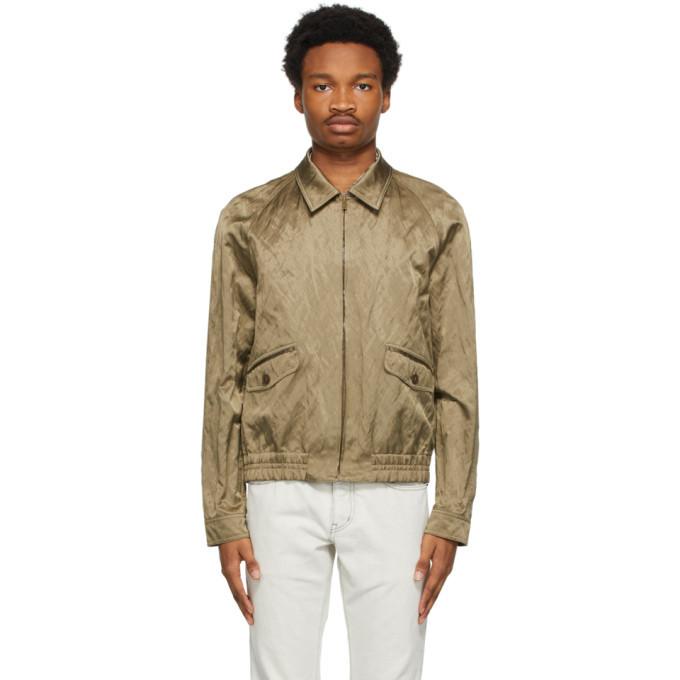 Photo: Saint Laurent Khaki Teddy Raglan Jacket