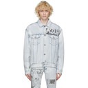 Ksubi Blue Denim Oh G Comik Jacket