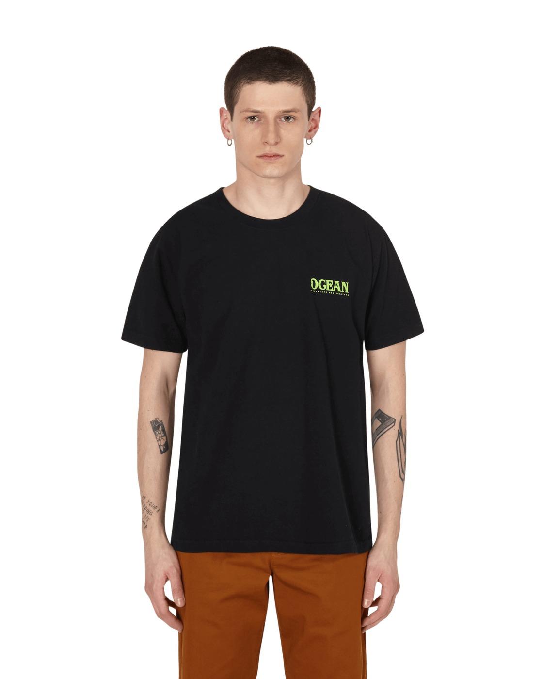 Eden Power Corp Ocean Recycled T Shirt Black
