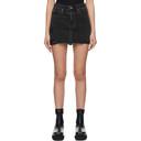 Ksubi Black Ripped Denim Model Miniskirt
