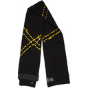 Raf Simons Black Crossed Stripes Collar Scarf