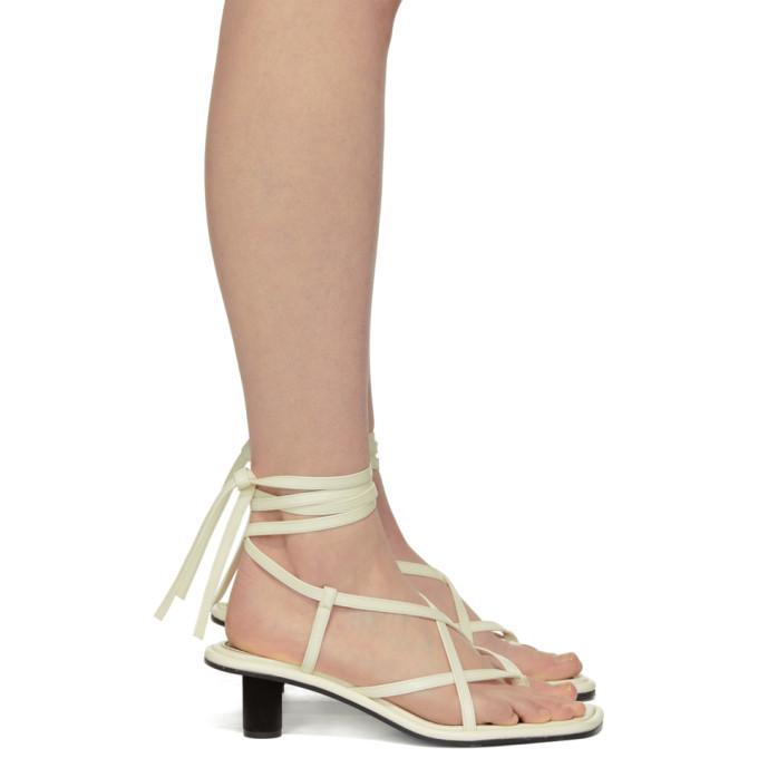 Proenza Schouler White Strappy Mid Heel