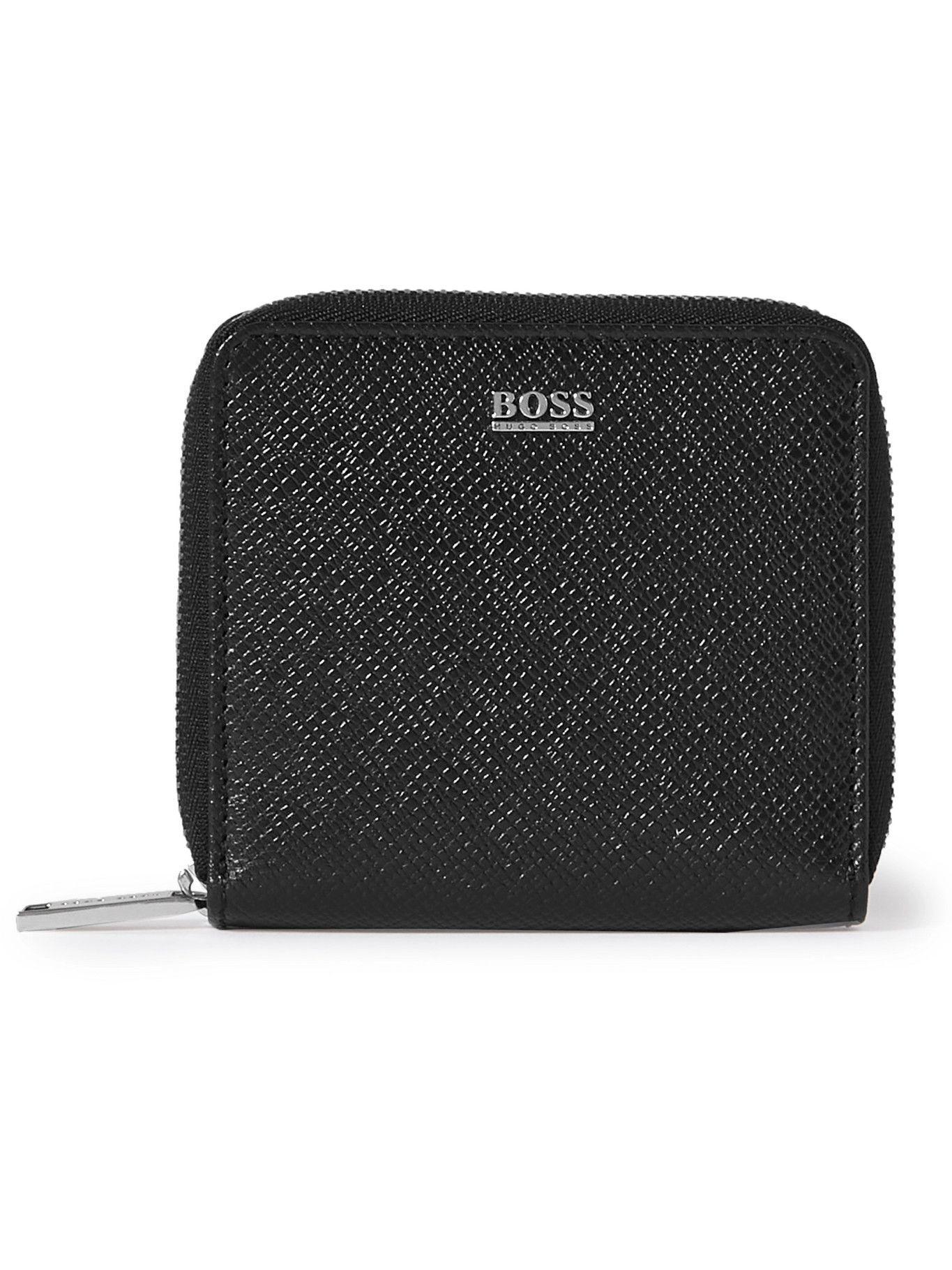HUGO BOSS - Crosstown Cross-Grain Leather Zip-Around Wallet