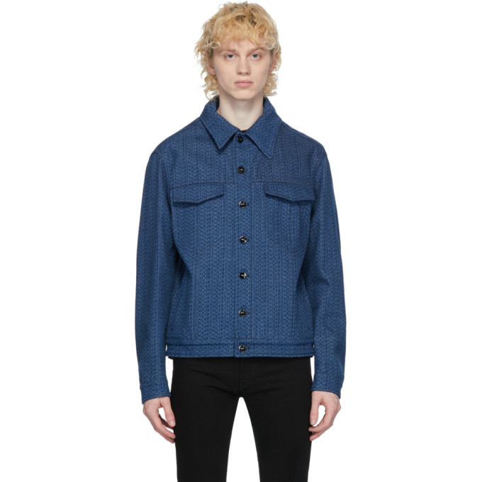 Photo: Fendi Blue Denim Logo Jacket