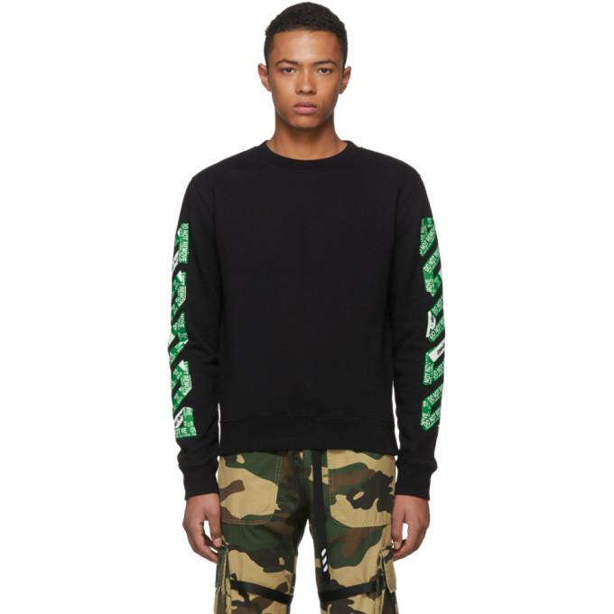 Photo: Off-White SSENSE Exclusive Black 3D Diagonal Sweatshirt
