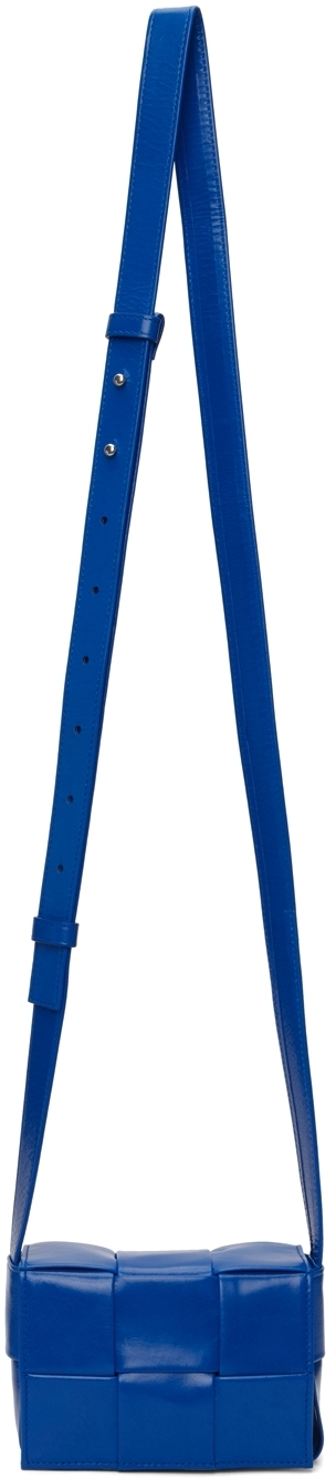 Photo: Bottega Veneta Blue Mini Paper Cassette Bag