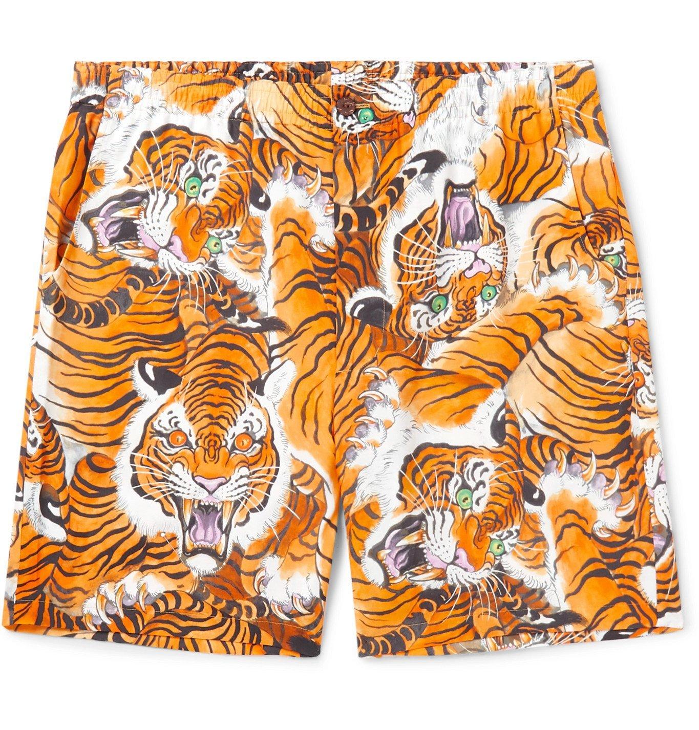 Photo: Wacko Maria - Tim Lehi Printed Woven Shorts - Orange