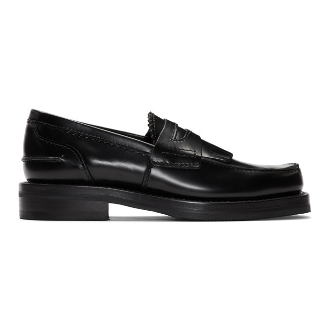 Photo: Our Legacy Black Leather Loafers