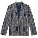 KAPITAL - Java-Yabane Printed Cotton-Flannel Shirt - Blue