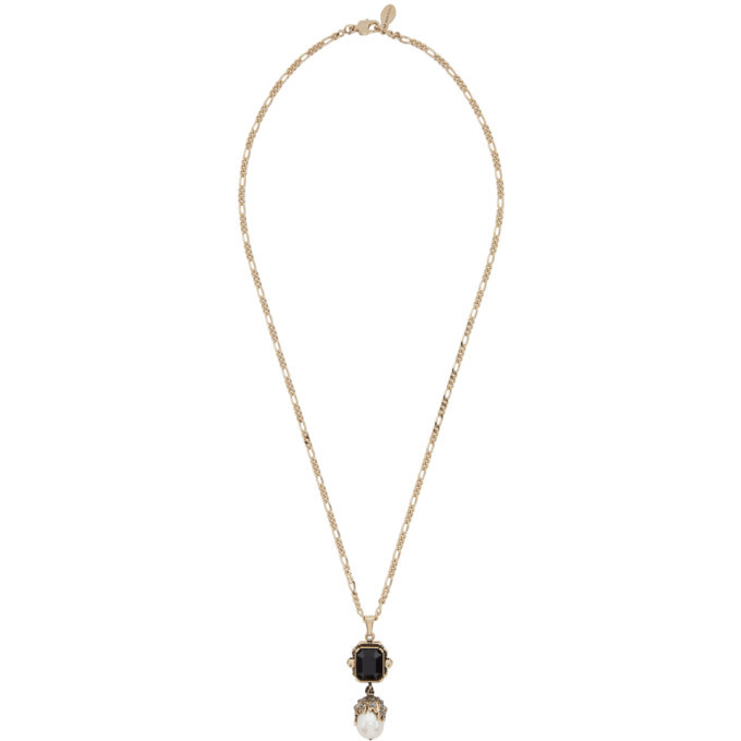 Photo: Alexander McQueen Gold Pearl Chain Necklace