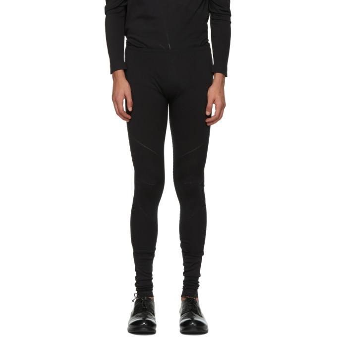 Photo: 132 5. ISSEY MIYAKE Black A-POC Legging Sweatpants