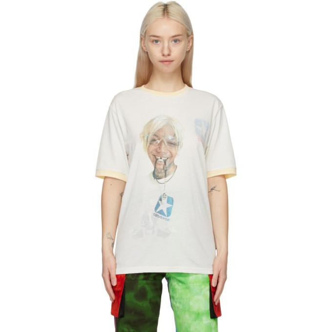 Photo: Telfar Reversible Off-White Converse Edition Coach T-Shirt