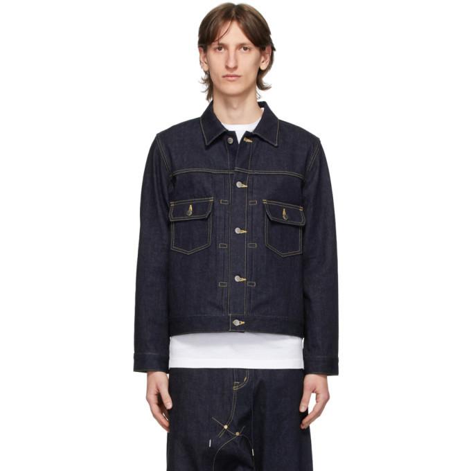 Photo: Fumito Ganryu Indigo Denim Pleated Jacket