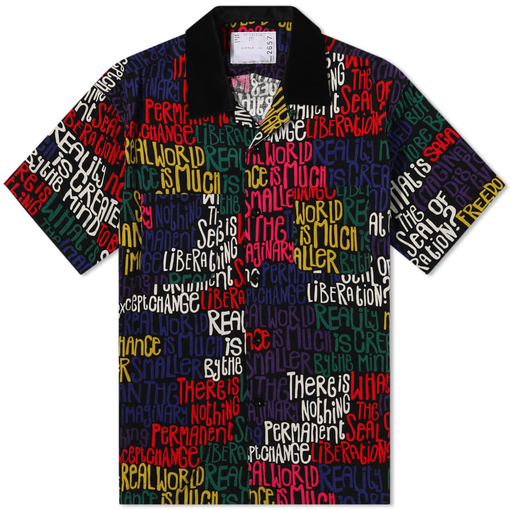 Photo: Sacai Message Print Vacation Shirt