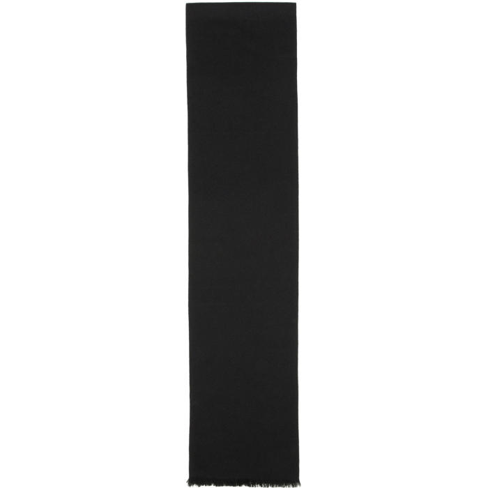 Lemaire Black Wool Scarf