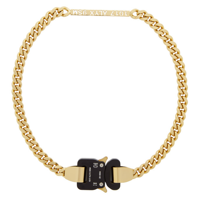 Photo: 1017 ALYX 9SM Gold Buckle Necklace
